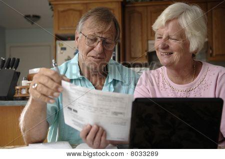 Senior Couple e-banking