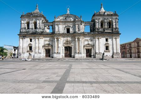 Historical Cathedral In Leon