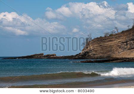 Beautiful Bay At Pacific Ocean