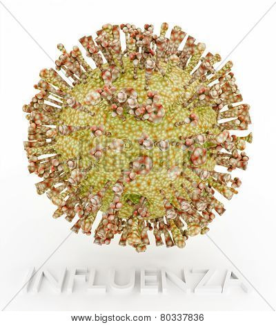 Influenza Virus With Text