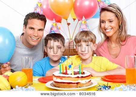 Happy Family And Birthday
