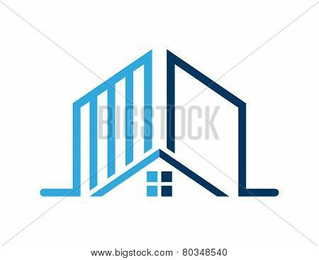 house logo real estate,rise building symbol icon