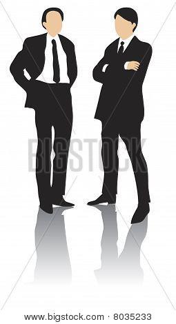 Two business men standingTwo business men standing