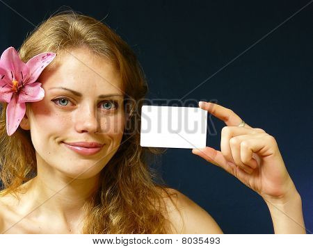 Girl With A Business Card
