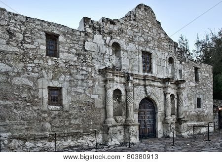 The Alamo in down town San Antonio Texas. poster