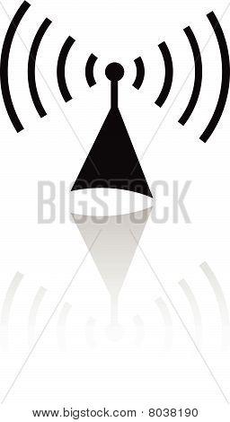 Black radio icon