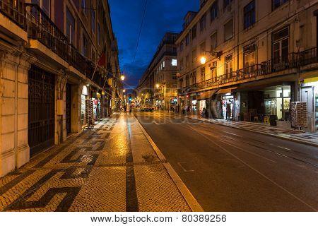 Night Lisbon Street