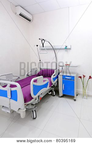 Interior of hospital room