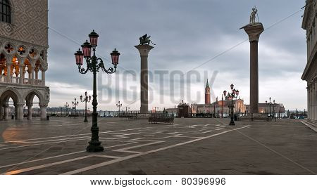 Piazza San Marco In Winter Morning