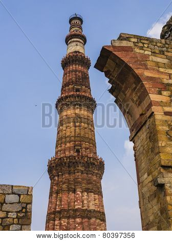 Qutb Minar and surrounding ruins, Delhi, India