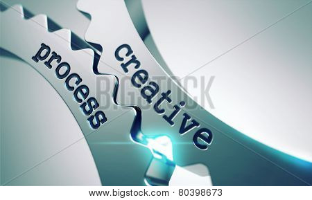 Creative Process Concept on the Cogwheels.