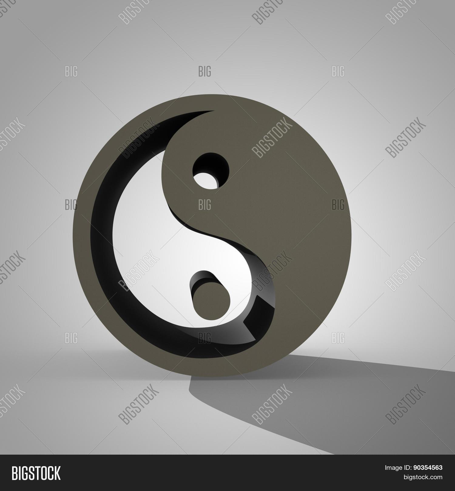 3d Yin Yang Sign Dual Image Photo Free Trial Bigstock