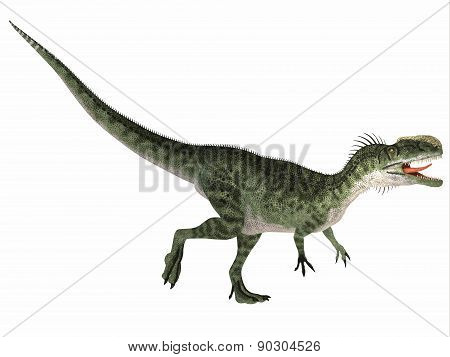 Monolophosaurus Over White