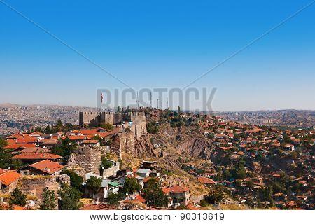 Old fort in Ankara Turkey - architecture travel background