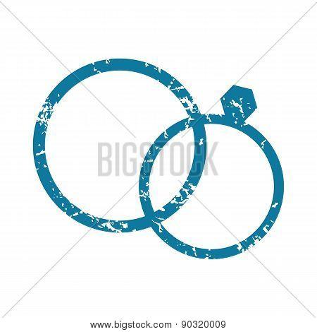 Grunge wedding rings icon