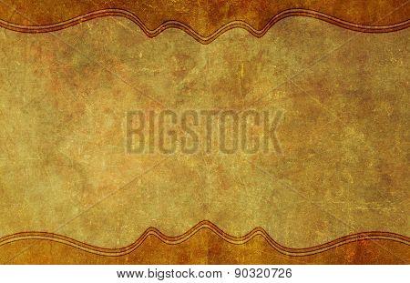 Old, Worn Paper Grunge Background With Border