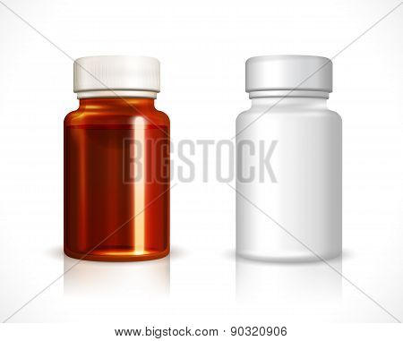 Blank plastic and glass bottle