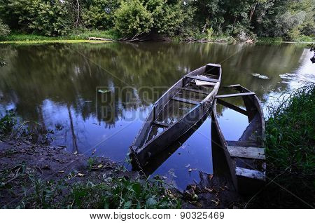 Two Old Wooden Boats