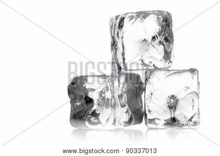 Heap Of Three Ice Cubes