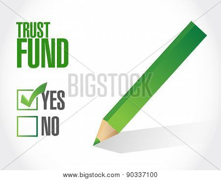 Trust Fund Approval Sign Concept