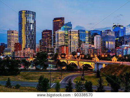 Calgary Canada at night