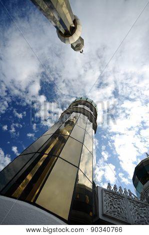 Minaret of The Crystal Mosque in Terengganu, Malaysia
