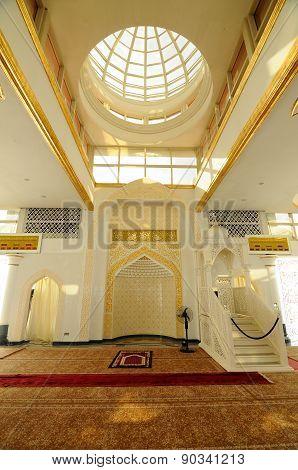 Mihrab of The Crystal Mosque or Masjid Kristal  in Terengganu, Malaysia