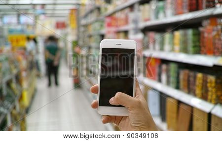 Using Mobile Phone In Market