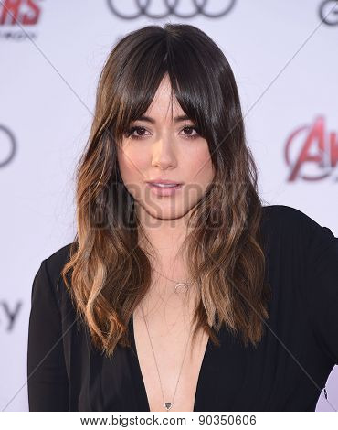 LOS ANGELES - APR 14:  Chloe Bennet arrives to the Marvel's