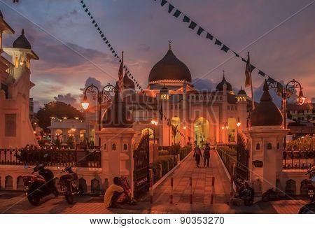 Kapitan Keling Mosque After Sunset