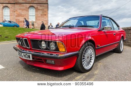 INVERNESS, SCOTLAND - MAY 9: BMW M6 on May 9, 2015 in Inverness, Scotland