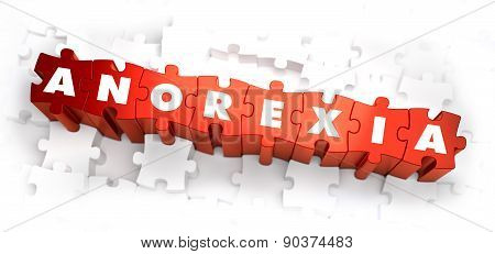 Anorexia - White Word on Red Puzzles.