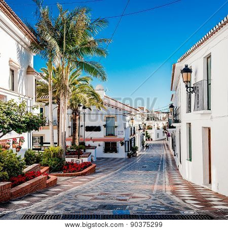 Picturesque Street Of Rancho Domingo. Spain