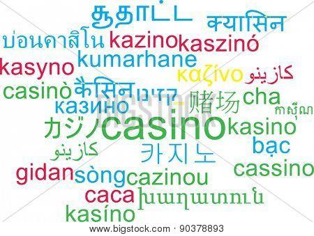 Background concept wordcloud multilanguage international many language illustration of casino