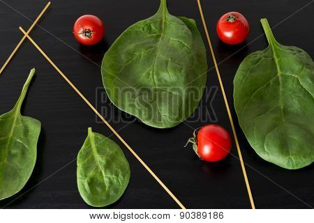 Spinach and Cherry Tomatoes