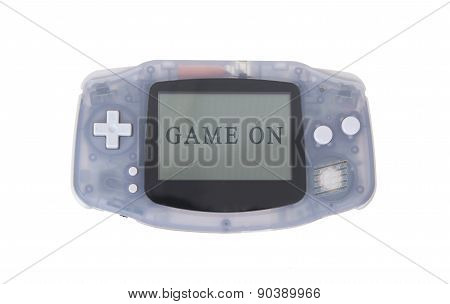 Old Dirty Portable Game Console With A Small Screen