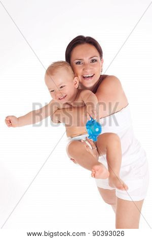 Beautiful Portrait Of A Mother And Her Sweet Baby Boy