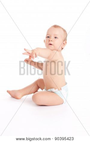 Baby Boy Pointing On Something