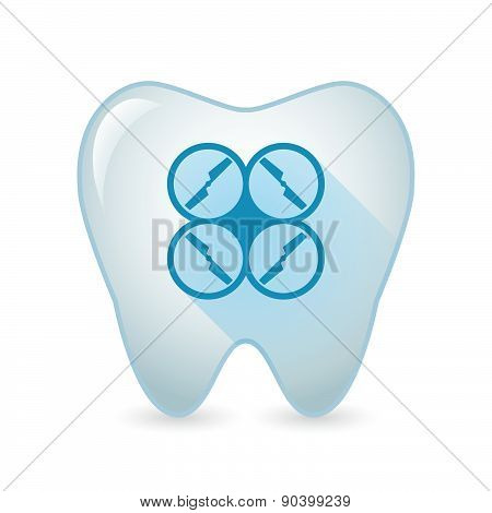 Tooth Icon With A Drone