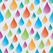 Colorful raindrops wallpaper. 3d seamless background. Vector EPS10. poster
