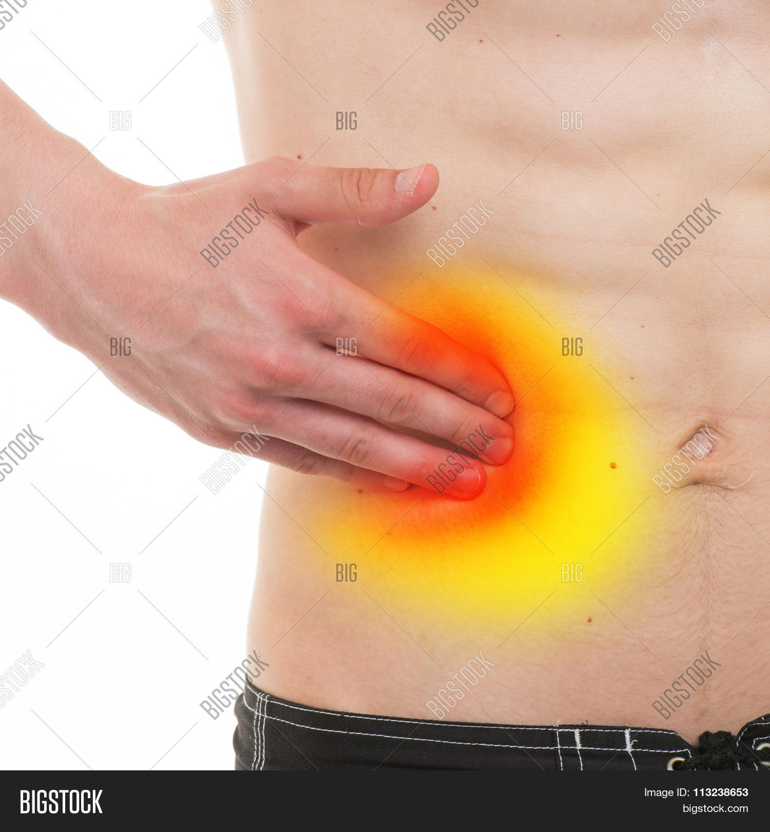 Abdominal pain male anatomy right image photo bigstock abdominal pain male anatomy right side pain isolated on white real anatomy ccuart Gallery