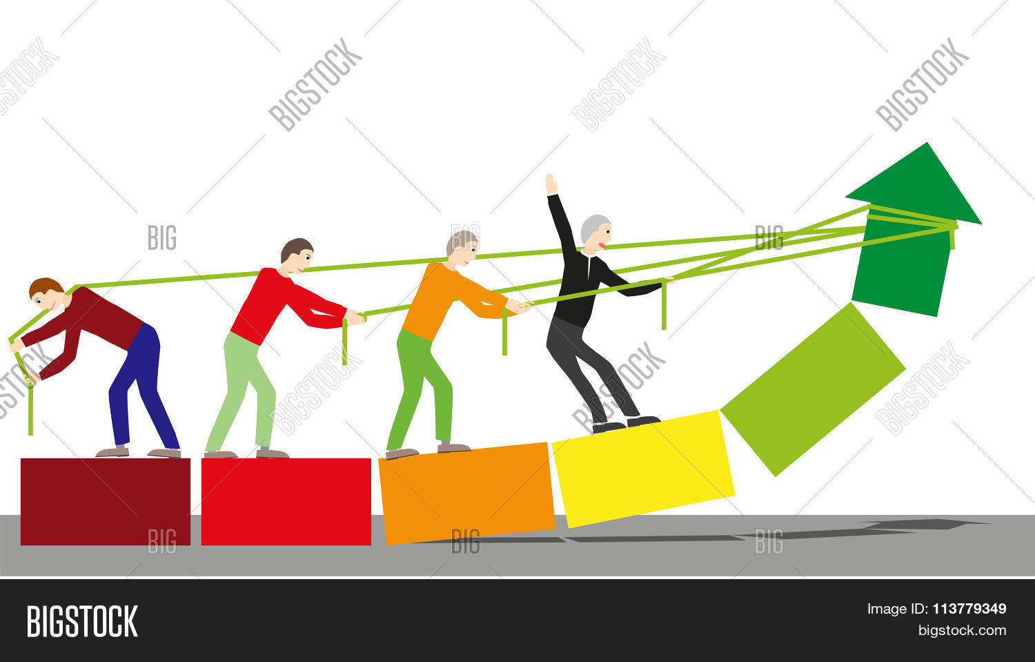 achieve together team vector photo free trial bigstock