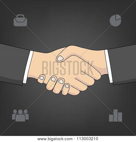 vector handshake sketch
