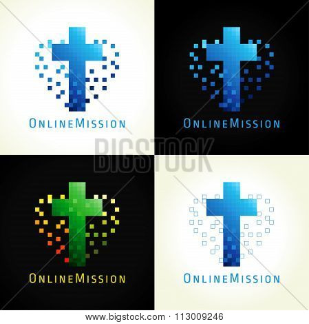 The digital pixel christian logo.