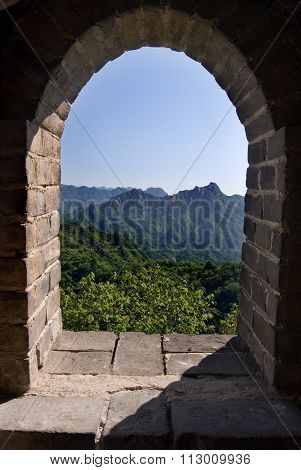 Window in the Great Wall, China