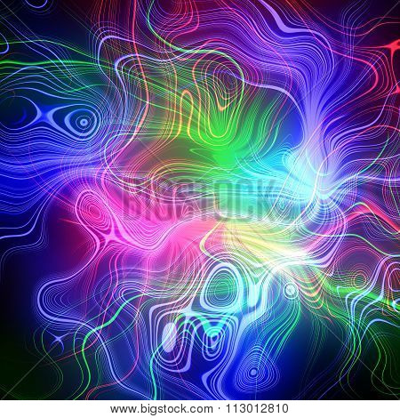 Electrical discharges. Abstract plasma discharge as a background. Psychedelic color image