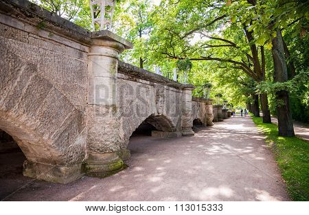 Ramp To The Cameron Gallery In Catherine's Park In Pushkin (tsarskoe Selo), Russia