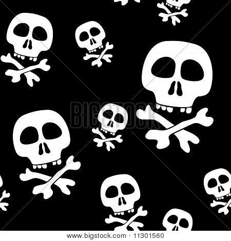 Abstract background with skulls. Seamless pattern. Vector illustration. poster