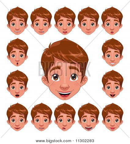 Boy Expressions with lip sync.