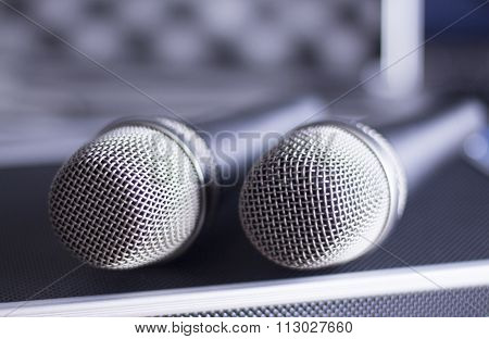 Voice Microphones And Carry Case